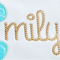 All Appliques - Rope Embroidery Font