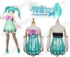 Vocaloid Project DIVA-f Miku Dress Cosplay Costume - Skycostume