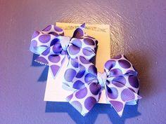 Baby/Girls Hair Bows (Purple Polka Dot) on Etsy, $3.49