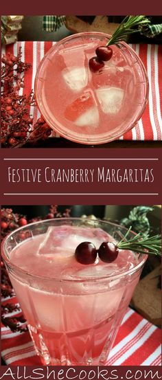Cranberry Margarita for the Holidays - A Labour of Life This holiday-friendly version lends a festive twist with its bright splash of color and a fun, seasonal garnish. Cranberry Margarita anyone? Party Drinks, Cocktail Drinks, Fun Drinks, Yummy Drinks, Cocktail Recipes, Alcoholic Drinks, Beverages, Margarita Cocktail, Cocktail Mix