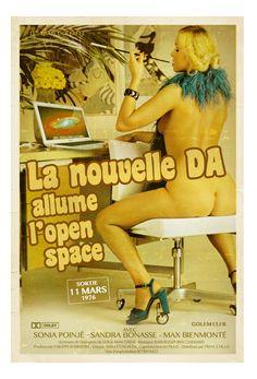 Les métiers de la com illustrés en affiches de films érotiques