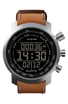 Suunto Terra Leather Strap Watch available at #Nordstrom