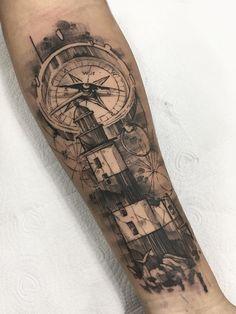 Arm Tattoos For Guys Forearm, Best Leg Tattoos, Cool Arm Tattoos, Best Sleeve Tattoos, Body Art Tattoos, Hand Tattoos, Tattoo Ink, Nautical Tattoo Sleeve, Leg Sleeve Tattoo