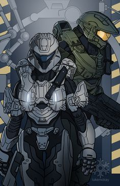 Palmer and Chief by lukemckay Armor Concept, Concept Art, Character Art, Character Design, Halo Armor, Halo Spartan, Halo Master Chief, Halo Series, Super Anime