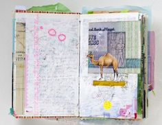 Gorgeous art journal pages - ideas for inspiration and techniques for keeping a sketchbook, a scrapbook, or a travel journal
