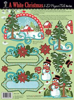 A White Christmas Papier Tole Custom Quilling Supplies