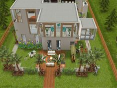 Casas The Sims Freeplay, Sims Freeplay Houses, Sims Free Play, Casas The Sims 4, Apartment Floor Plans, Sims Ideas, Build Your Own House, Sims House, My Sims