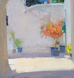 Patio - Peter Bezrukov. Looks like Greece. Fun and pretty