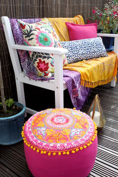 Get The Look: Glam Boho Brights Garden Patio (ft. Giveaway!) by Kimberly Duran | The Oak Furniture Land Blog