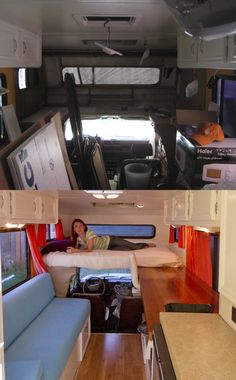 1986 Toyota Dolphin RV Remodel - Whats Old is New Again. Just changing the colors from dark to light makes a huge difference!