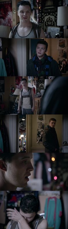 """"""" I leaving town - You serious ? You're signing up ? - How long ? - Four years minimum. - What are you hoping, I tell you not to go ? - Didn't come here for you . - Don't.... """" Damn this scene was horrible I love Gallavich And when Mandy told Mickey """" Really ? That's all you're gonna say to him ?"""""""