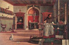 Карпаччо - Блюдо было изобретено в Венеции в 1961 году и названо в честь живописца эпохи Реннесанса Витторе Карпаччо, чьи картины изобиловали всевозможными оттенками красного. Примерно вот так ) Карпаччо - это тонкие кусочки сырой говядины, приправленные оливковым маслом с уксусом и/или лимонным соком. Мясо обжигают, потом приправляют и нарезают. Карпаччо подается на листе салата с сыром Пармезан.