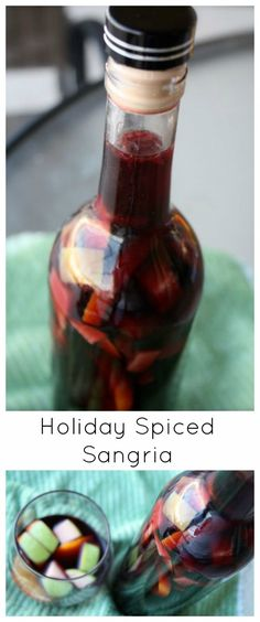Holiday Spiced Sangria - a wonderful addition to holiday entertaining, and makes a great hostess gift too!