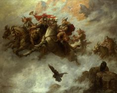 MAUD (William T.), The Ride of the Valkyries, 1890, huile sur toile, Knohl Collection