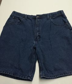 MENS W 40 SHORTS BLUE JEANS WORK DARK DENIM CHEROKEE 5 POCKET