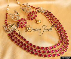 Beautiful three layer necklace set