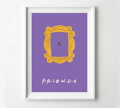 Friends Frame  TV Poster Minimalist Wall Poster Quote by POSTERED