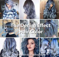 The Denim Effect - Denim Blue Hair Colors You'll Love - Hair Colors Ideas