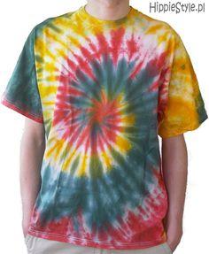koszulka Tie-Dye spirala XXL | Hippie Style