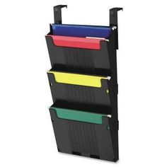 Organize important files in your cubicle or office with this Deflect O Partition Pocket System. The system features a 2 level top pocket and 2 add a pockets so you can easily store your documents and hanging file folders.