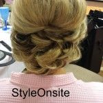 wedding updo, big curls, traditional hair, bridal hair
