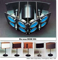 Great sound and design that survived at least 30 years, still sold, still expensive. The Bose 901 speakers.