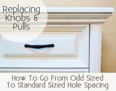 When my husband and I first started doing furniture refinishing on a large scale, one problem we ran into a lot was drawer pulls that were not the common standard size, which is 3″. Drawer pulls that are other sizes are a little harder to find and a little more …
