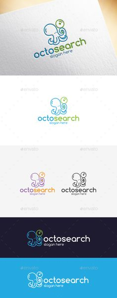 Octosearch Logo Template,animal, app, application, blue, brand, brand identity, browser, business, company, computer, corporate, creative, cute, green, logo, mascot, modern, octopus, resizable, sea, search, search engine, simple, software, tech, technology, unique, vector, web