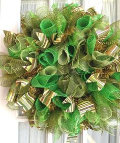 St. Patrick's Day Deco Mesh Wreaths by Southern Charm Wreaths. This site has tons of mesh wreath ideas!
