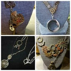 Now listed on my Etsy shop: www.gemmageluz.etsy.com   Secret Bottle Necklace, Delicate Steampunk Necklace with Contemporary Locket, Delicate Dual Hanging necklace with tiny keys & locket, Butterfly Gears & Glass Jewel Locket necklace  #steampunk #jewerly #imadethis #necklace
