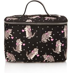 Forever 21 Cats & Dots Travel Makeup Case (13 CAD) ❤ liked on Polyvore