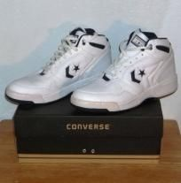 Converse Athletic Basketball Hi Top leather white and navy 1j745 men, boys, teen shoe. Sold!