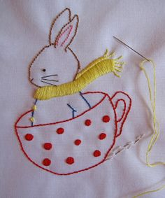 Tea Time in the Snow Embroidery Pattern by bumpkinbears, via Flickr,,,,My mother and grandmother taught me to embroider.