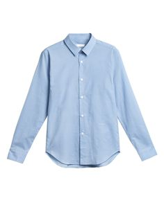 Niuhans Botanical Dye Shirt Light Blue