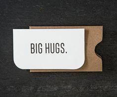 mini: big hugs. letterpress card. #731