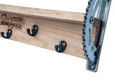 Maple Shelf / Sprocket Shelf / Motorcycle Shelf / Maple Wood / Motorcycle Sprocket / Wood Shelf / Salvaged Sprocket / Blacksmith Hooks