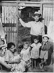 Sugar worker's family near Yabucoa, Puerto Rico - 1941