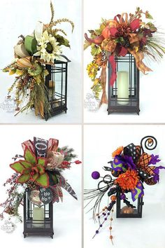 DIY Fall Lantern Swag