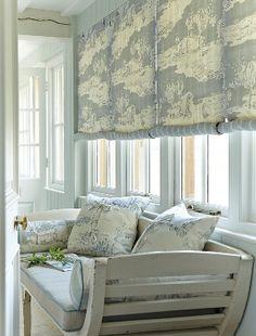 I love rolled Swedish blinds:  Vanessa Arbuthnott | Vanessa Arbuthnott