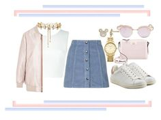 """""""Choke On Gold"""" by tiarheanne ❤ liked on Polyvore featuring A.L.C., Erickson Beamon, Acne Studios, Topshop, Étoile Isabel Marant, Kate Spade, Le Specs and Disney"""