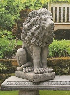 One #stone Lion Garden #ornament #statue, View More On The LINKu2026