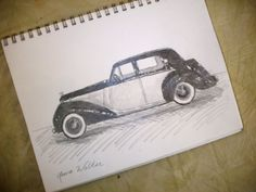 car drawing, custom pencil portrait of your car, made to order. $20.00, via Etsy, www.cullmanlaurasart.etsy.com