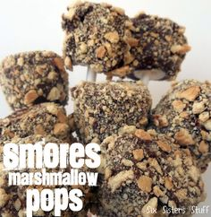 S'mores Marshmallow Pops. Did this with the kids. They were VERY good, especially with a thick chocolate coating.  'MP