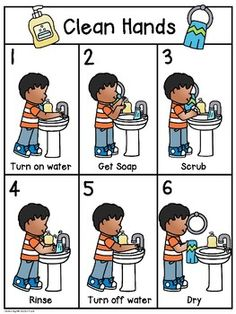 Hand Washing Posters by Kristin Bertie Preschool Classroom Rules, Preschool Learning, Learning Activities, Activities For Kids, Camping Activities, Sequencing Activities, Preschool Worksheets, School Nurse Office, Hand Washing Poster