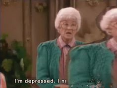 Hot GIF sad depressed golden girls sophia petrillo estelle getty emotional eating im depressed i need a cookie