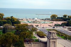 The view from the historic Fine Arts Building is undiscovered and unparalleled: open to the public overlooking Buckingham Fountain, Chicago.