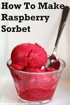 Homemade raspberry sorbet… Oh Snap! This stuff is yummy! Homemade raspberry sorbet… Oh Snap! This stuff is yummy! Ice Cream Desserts, Frozen Desserts, Ice Cream Recipes, Frozen Treats, Rasberry Sorbet, Sorbet Ice Cream, Raspberry Popsicles, Raspberry Cobbler, Raspberry Cordial