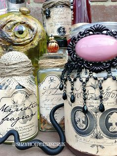 DIY Halloween potion bottles with 9 FREE Halloween Apothecary Labels for your Halloween decorations.