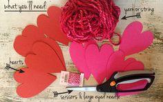 {DIY} Valentine's Day Heart Garland Tutorial