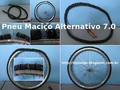 Foto: Pneu Maciço Alternativo versão 7.0 - Ideia de pneu de bicicleta sem câmara…
